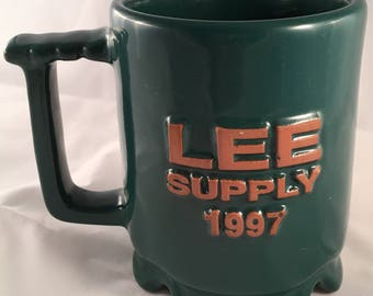 Vintage Frankoma Cup Lee Supply 1997, Green C1
