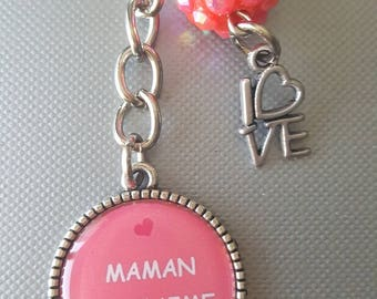 I love you MOM bag charm
