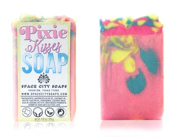 Luxury Cold Process Soap Rainbow Soap | Fruit Loops Scents | All Natural Homemade Soap | Birthday Gift for Girlfriend Ideas | Gift for Her