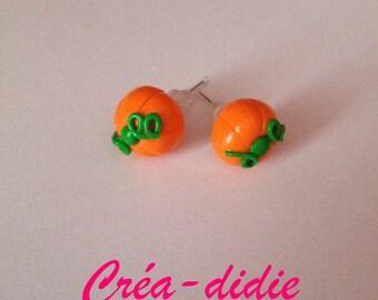 Stud Earrings small halloween pumpkins