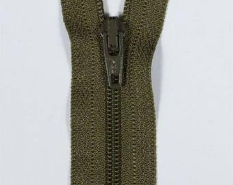 25 cm not separable khaki YKK zipper