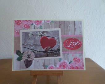 card with a heart and LOVE