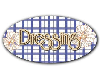 Door decal style oval dressing 029