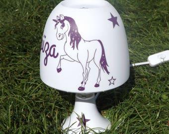 Lamp horse Unicorn with stars