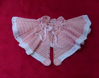 Cape for baptism pink 0/6 months