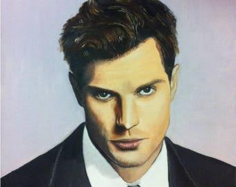 "Portrait oil ""Christian Grey"""