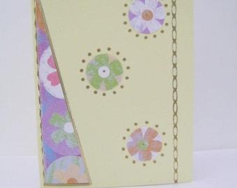 Accordion card, flowers