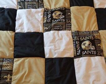 NFL New Orleans Saints Block Quilt