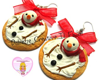 ☃ Christmas In Sweetness 2016 ☃ Marshmallow cookies with melted snowman!