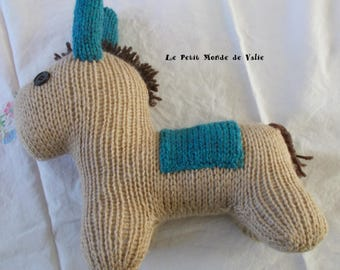 Little donkey beige and teal
