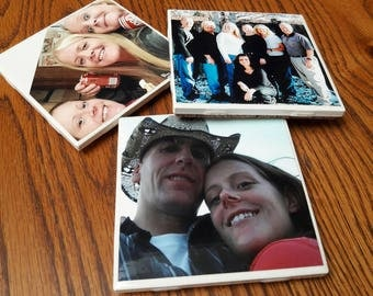 Set of 6 - Customized Picture Coasters