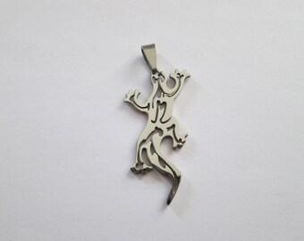 acier inoxydable pendentif lézard gecko 53 x 25 mm
