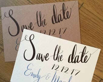 Simple A6 Save the Date