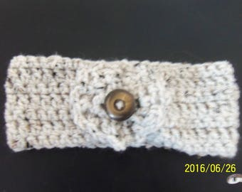 Headband with flower, knitted wool China