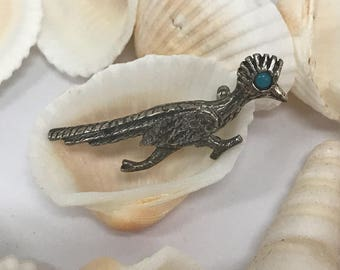 Vintage sterling roadrunner pin