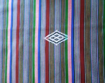 "Wax-wax fabric African pattern ""kente"" coupon 45 cm x 55cm"