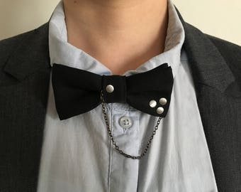 Bow jewelry, bow tie blue night, man or woman accessory