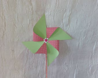 Pinwheels for buffet table decoration.