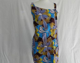 Dress asymmetrical tunic with Brown straps to bag. 40 T36
