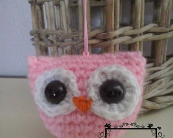Amigurumi OWL pink and white
