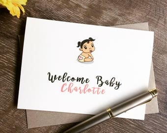 Funny New Baby Card, Personalised baby card,Congratulations New Baby card,Funny Baby card,Funny new arrival card,baby shower card,Birth Card