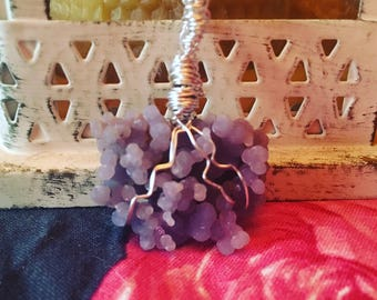 Grape Agate/Grape Chalcedony Pendant