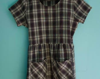 One of a kind made in UK size M baby doll grunge dress