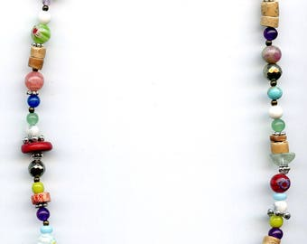 Summer necklace semi precious beads