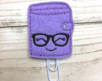 geeky planner clip, diary paper clip, felt paper clip, planner clip, planner accessory, planner accessories, planner supplies, cute planner