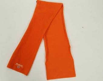 Vintage Orange Reebok Fleece Scarf