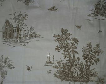 25 x 250 cm toile de jouy fabric coupon