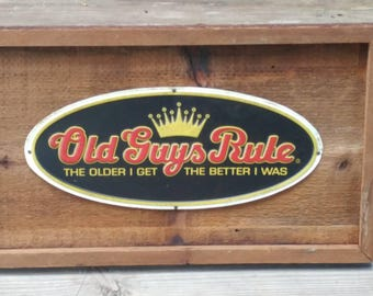 Wood sign / Old Guys, fence wood, rustic, western