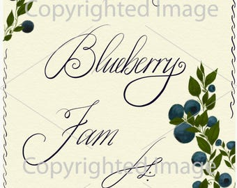 Blueberry Jam Lable