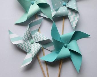 guirlande de diamants en origami pour d coration murale bleu. Black Bedroom Furniture Sets. Home Design Ideas