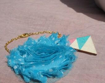 "Gold Bracelet and its ""sentimental"" chiffon flower"