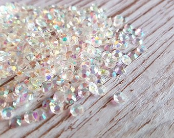 100 rhinestone flat crystal effect