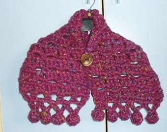 THICK WOOL CROCHET SCARF