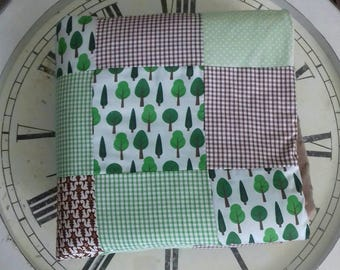 Squirrels in the Forest handmade patchwork blanket