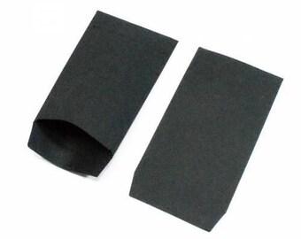 Black kraft paper gift bags