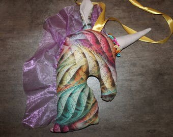 NEW - The Unicorn hanging multicolored fabric