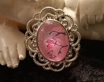 "Silver ring ""Cherry blossom"""