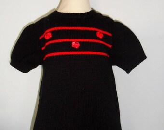 "Black dress ""Daisy"" 9/12 months"