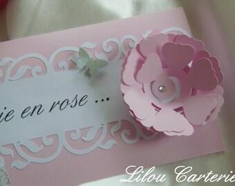 Chic and glamorous wedding invitation