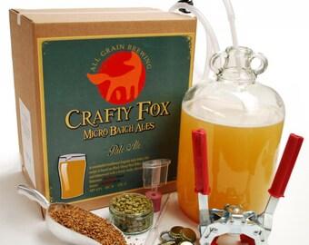 Crafty Fox 1 Gallon Beer Making Starter Kit - Pale Ale