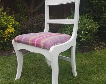 Upholstered tweed occasional chair