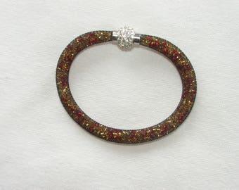 Bracelet tube seed beads and mesh