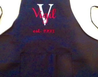 Personalized Apron-Custom Apron-Chef Apron-Wedding Gift-Gift for Chef-Housewarming Gift-Christmas Gift-Anniversary Gift-Engagement gift