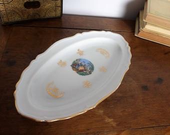 Ravier en porcelaine de Limoges, vide poches, coupelle, petite assiette / vaisselle vintage