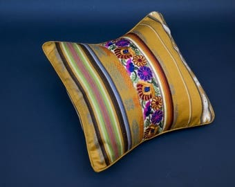 Autumn colors: 2 cushion covers-COLLECTION HACIENDA - shades of yellow and gold
