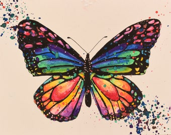 Original Watercolor Butterfly